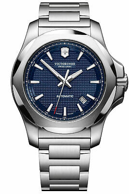 New Victorinox Swiss Army INOX Automatic ST Steel Blue Dial Men's Watch 241835