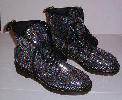 DR. MARTENS (Made In England) Vintage (Sequin) Boots (8 hole) US 10 / UK 9 (New)