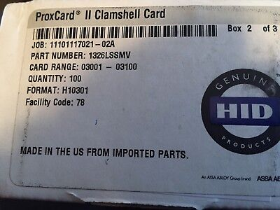 HID 1326 ProxCard II Access Control Cards 1326LSSMV 10 pieces