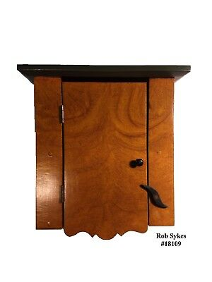 """""""SOLD THANKS"""" Primitive / Vinegar Paint Decorated Spice Cabinet by R. Sykes"""