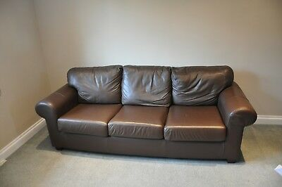 Cool Ikea Ektorp 3 Seater Brown Leather Sofa Very Very Good Andrewgaddart Wooden Chair Designs For Living Room Andrewgaddartcom
