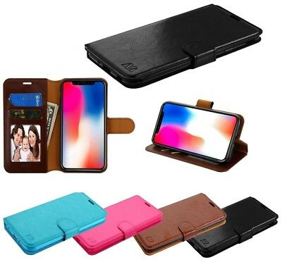For Samsung Galaxy A6 2018 Leather Wallet Flip Card Stand Phone Case Cover Pouch