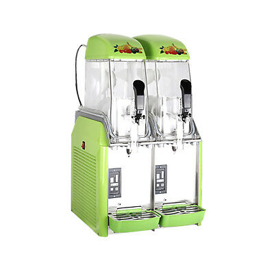 New Dual Bowl Margarita Slush Frozen Drink Machine - Green