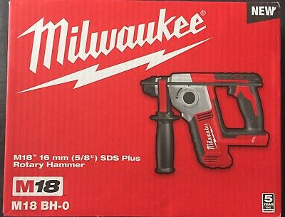 "Milwaukee 18V Li-Ion Cordless 5/8"" SDS Plus Compact Rotary Hammer Skin Brand New"