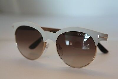 3ed0734aa5b Tom Ford Metal Beige and Gold Frame Brown gradient lens Sunglasses TF438  ANGELA