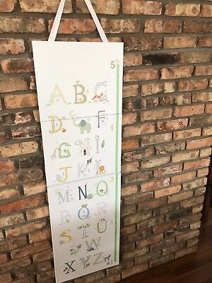 Pottery Barn Kids Alphabet Wall Hanging Growth Chart