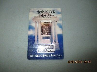 15 minute H&R Block Telecard 'Rapid Refund' Phone Card
