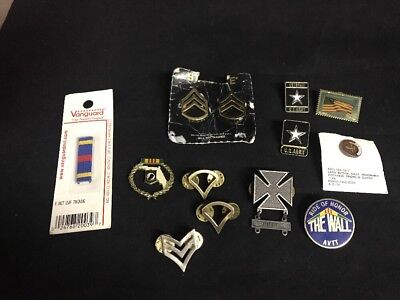 Junk Drawer Lot Of US Military Pins Navy Army POW Discharge Air Force CR3