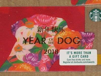10 Starbucks 2018 Year Of The Dog Chinese New Year Gift Cards - Brand New !