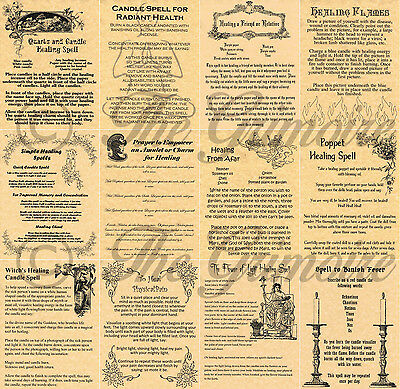 Healing Spells for Book of Shadows, Wicca, Witchcraft, Pagan