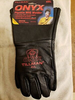 Tillman 45L MIG Welding Gloves Black ONYX Top Grain Pigskin Leather 1 Pair Large