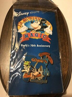 Disney Goofy 70Th Anniversary Pin 12 Months Of Magic Disney Store New
