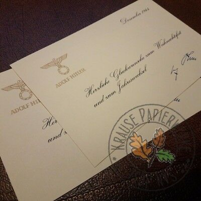 Christmas card from Adolf, signed - reproduction