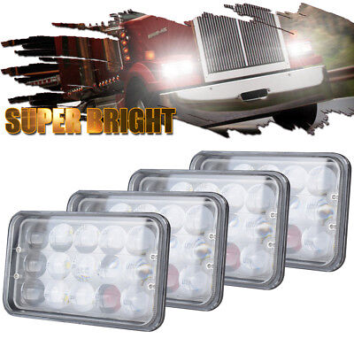 4Set 4X6'' 4D DOT LED Headlights for Kenworth T800 T400 W900B Fire Truck
