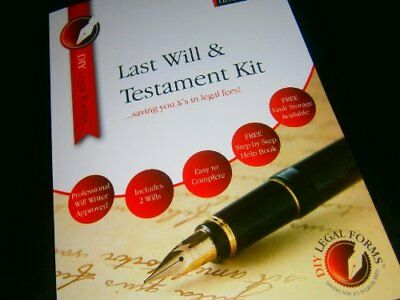 SINGLE PERSON, BUDGET LAST WILL AND TESTAMENT KIT, 2019 BRAND NEW Edition.