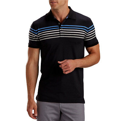 ec02d4a4 BOBBY JONES LINE Stripe Performance Short Sleeve Polo Black Medium ...