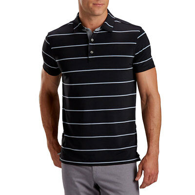 67e0d1e3 New 2018 Bobby Jones Tech Alliance Stripe Shortsleeve Golf Polo Black Medium