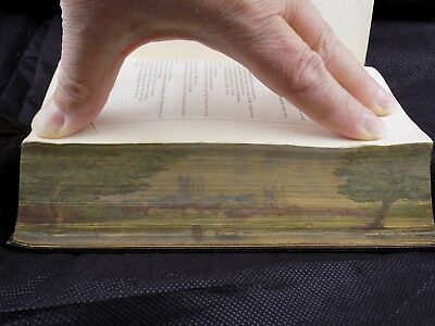 1843 King James Bible Fore Edge Painting Storage Case Fine Binding  Near Fine
