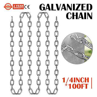 Coil Chain ElectroGalvanized 100Ft 1/4in Grade 30