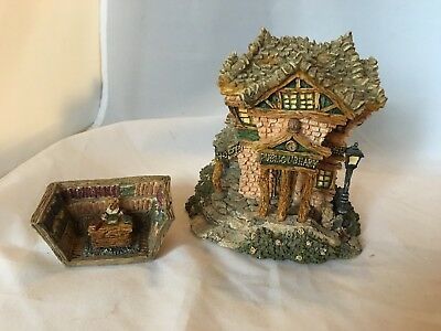 Boyds Bearly-Built Village The Public Library with accessories