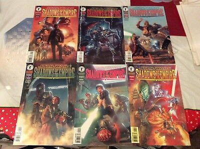 Star Wars Shadows Of The Empire #1-6 Full Set Nice Condition