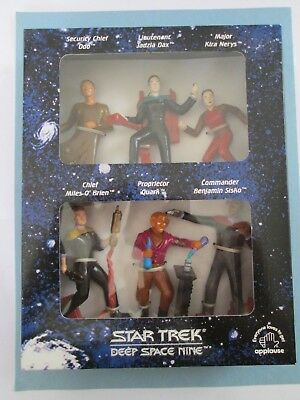 1994 Star Trek Generations Set of 6 Collectible Figurines by Applause MIB New