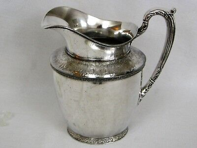Andover Silverplate Large Antique Pitcher - 1/2 Gallon - R Wallace - EPNS A1508