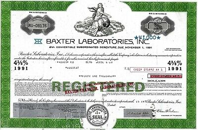 Baxter Laboratories Inc., 1977,  4 3/8% Debenture due 1991 (41.000 $)