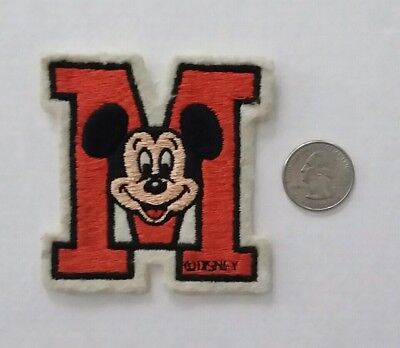 VINTAGE 1960s - Walt Disney World MICKEY MOUSE - Embroidered Patch (rare)