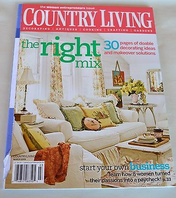 Country Living Magazine March 2006 The Women Entrepreneurs Issue