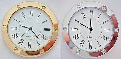 """56mm fit 50.5mm or 2"""" hole / Clock/Watch Insert free spare battery"""