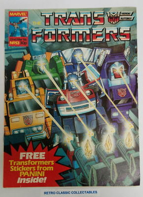 Marvel UK - The Transformers - Comic - No. 53 - 22nd March. 1986 (*1)