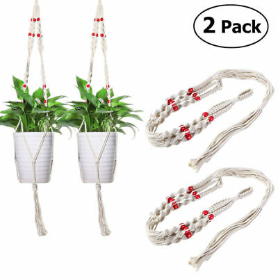 Home Garden Macrame Plant Hanger Rope Flowerpot Holder Gardenpot Lifting Rope