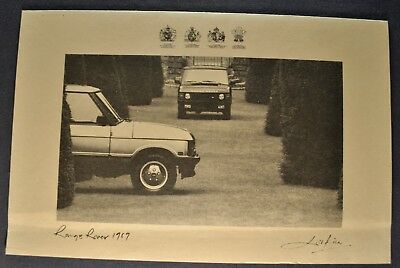 1989 Range Rover Sales Brochure Folder Sheet Nice Original 89