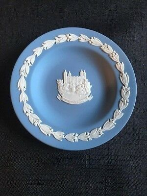 "Vintage Blue Wedgwood Tower of London 4 3/16"" Plate"