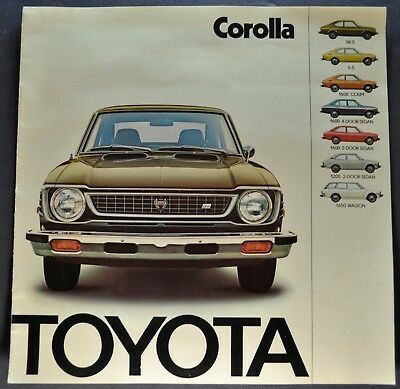 1974 Toyota Corolla Catalog Brochure SR-5 1600 Coupe Wagon 1200 Excellent Orig