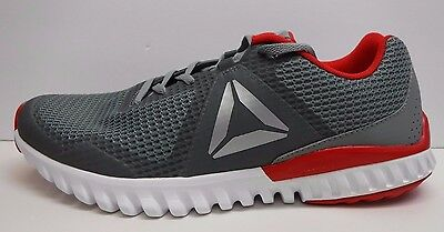 53be154ebca6 REEBOK SIZE 11 Silver Gray Red running Sneakers New Mens Shoes ...