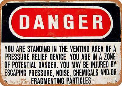"""9"""" x 12"""" Metal Sign - Danger You Are in a Venting Area - Vintage Look Reproducti"""