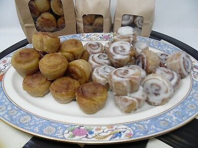 1/2 lb WAX GLAZED CINNAMON BUNS FAKE FOOD  SCENTED TARTS CANDLE MAKING SUPPLIES