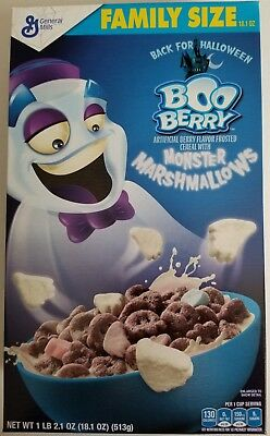 NEW Boo Berry Flavor Cereal + Monster Marshmallows 18.1 oz FREE WORLD SHIPPING