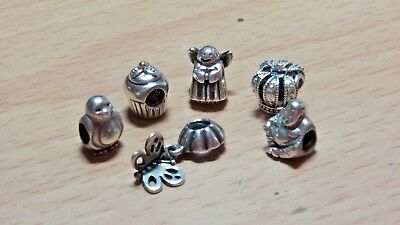 Various Genuine Pandora Charms x 6 ALE S925 excellent condition and value