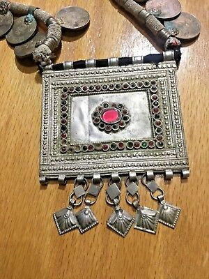 Antique Islamic Necklace Rare Pendant Framed From Saudi Arabia, Bedouin Tribe6