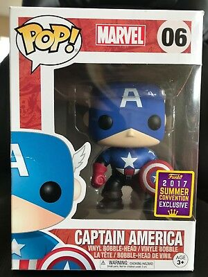 Funko POP 2017 Summer Exclusive Marvel Captain America Bucky Barnes #06 POP! Fig
