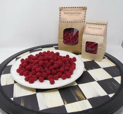 1/2 lb RASPBERRIES FAKE FOOD  SCENTED TARTS CANDLE MAKING SUPPLIES RASPBERRY