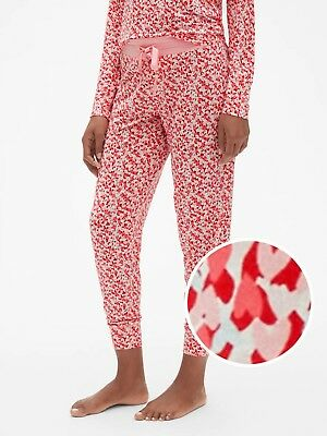 LOVE by Gap Print Joggers in Modal Lovely Hearts Red/Pink XS item #388399