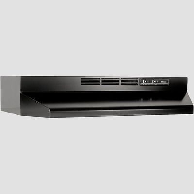 """BLACK OVER THE STOVE RANGE HOOD 30"""" EXHAUST FAN Non-Ducted Under Cabinet Kitchen"""