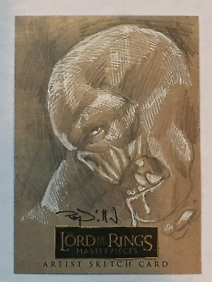 Lord of the Rings Masterpieces Sketch Card by Ray Dillon