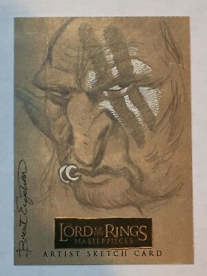 Lord of the Rings Masterpieces Sketch Card by Brent Engstrom