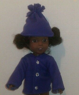 "14.5"" Doll Clothes-fit American Girl-Wellie Wishers-Coat/Hat-Purple"