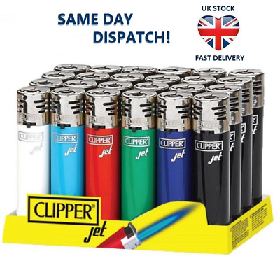 CLIPPER LIGHTER JET FLAME Original Size Turbo Blue Flame Electronic & Refillable